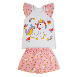 Пижама Единорог Розовый